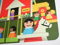 Vinage fisher price Schoolhouse artprint