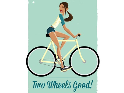 Two Wheels Good fixie cycling bike commute pin-up cute