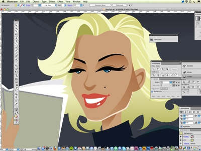 Marilyn Monroe marilyn monroe screengoddess blonde fifties lifemagazine reading vector illustration artprint