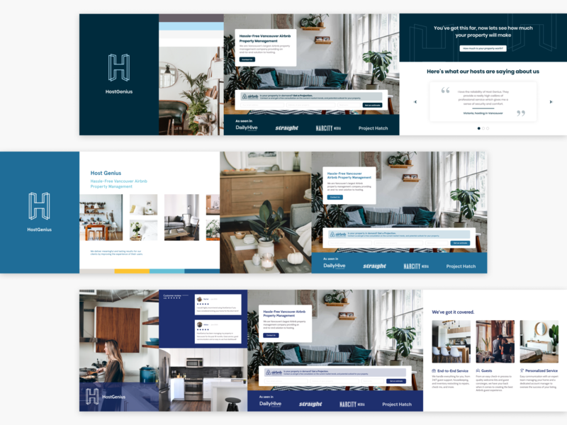 HostGenius Stylescapes real estate airbnb stylescape design ui website design website property management moodboard logo visual identity branding brand