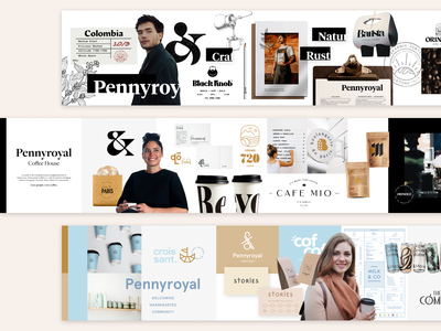 Pennyroyal Coffee House Stylescapes typography vector logo flat illustration branding ui design
