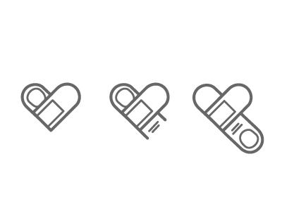 Getting Better Logo love finger plaster bandaid logo better getting line gray simple heart