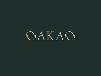 OAKAO Logo logo fashion logo fashion brand logo website webdesign web ui graphic design figmadesign figma fashion brand fashion design