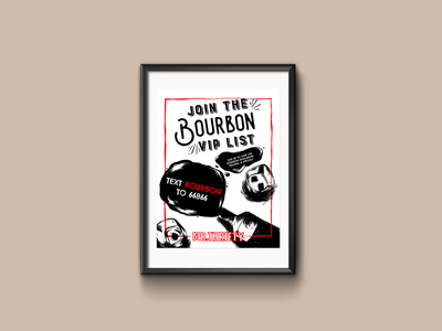 Bourbon VIP List Poster v2 bourbon alcohol print design print poster design poster illustration graphic design