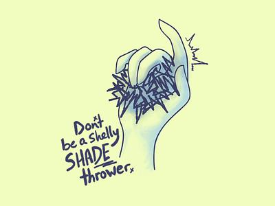 Shady shade hand illustration shade