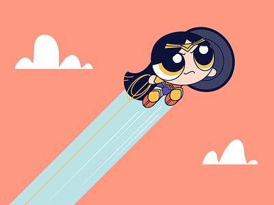 Wonder Woman comic adventure action superhero girl power puff wonder woman