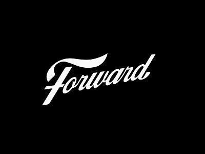 Forward Movement forward script handlettering