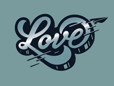 love handlettering paper plane love