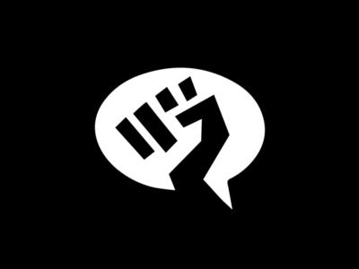 Speak Out! black lives matter blm logo talk speak racism fist