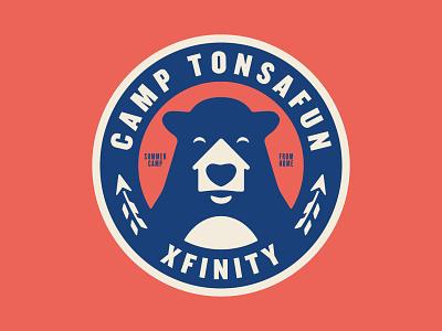 Summer Camp From Home badge summer camp summer arrow bear home camp