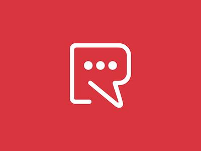 Respond To Racism logo design racism talk bubble speach respond talk r red logo