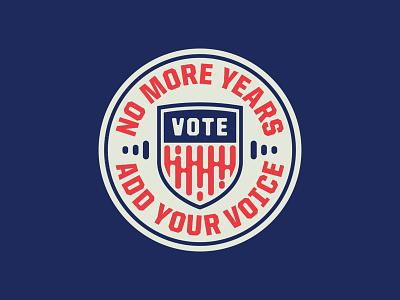Add Your Voice voice patriot shield sound badge audio talk speak vote