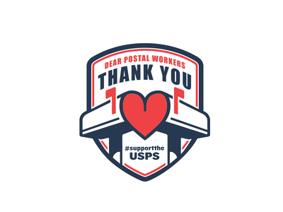 Thank you Postal Workers 2 hearts stamp love post office postal mailbox mail heart