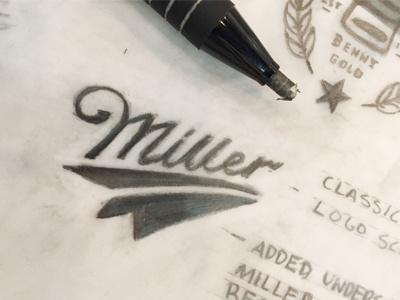 Miller High Life Partnership Logo wip sketch paper airplane paper plane beer miller high life