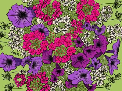 Bloom brushes flowers doodles illustration procreate drawing