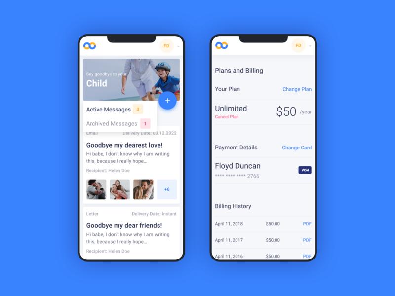 SayGoodbye SaaS - Mobile First Website website web minimal ux ui flat design app