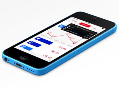 Next for iPhone next app ios ios7 ui iphone statistics graph