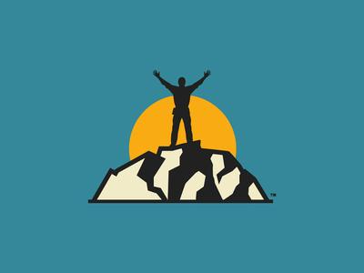 The Big Outdoor Challenge logo design vector branding color limbing backpacking alpinism kayaking surfing ski touring
