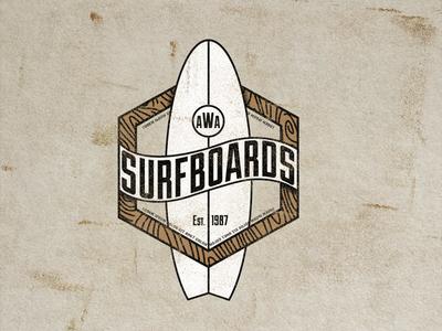 AWA SurfBoard Logo