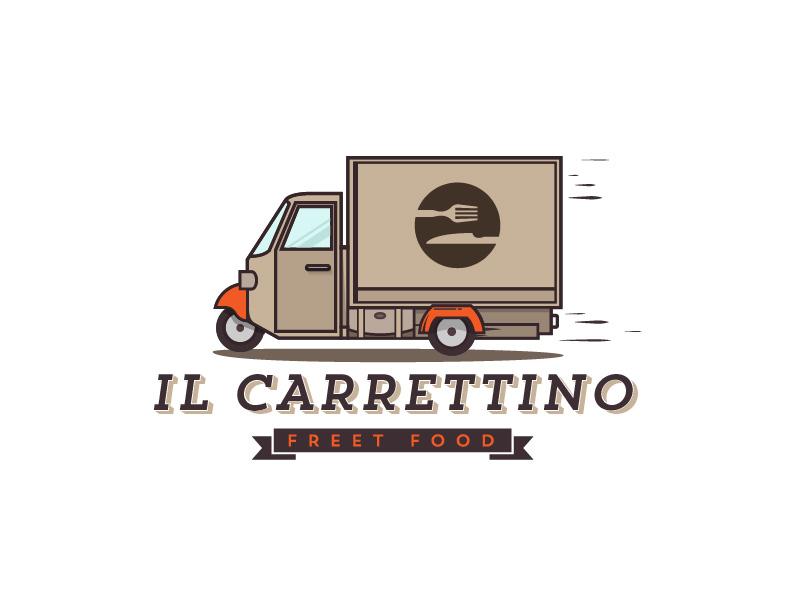 Il Carrettino logo fast food branding visual identity truck car