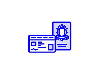Keep your passport ready belgian passport eid passport icon line