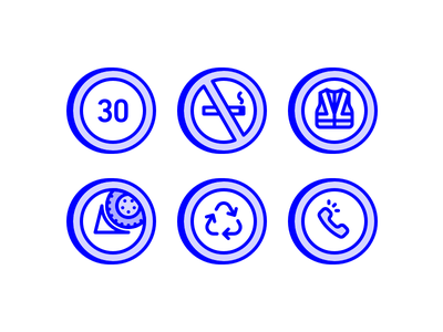 Make yourself at home, but... phone recycle vest safety smoking no limit speed icon line