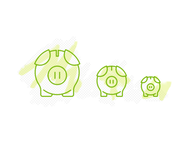 When pigs fly... piggy bank icon line