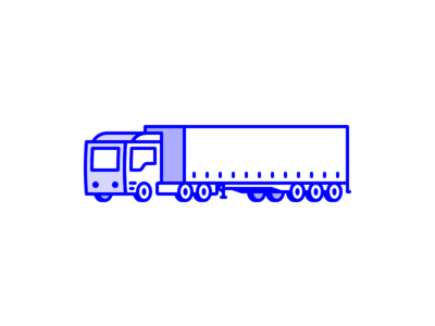 Hit the road Jack semi truck icon line