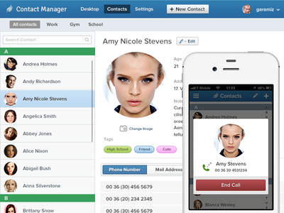 Contact Manager App .