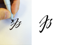 Lettering in process .