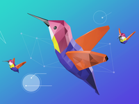 Hummingbird 3D Illustration