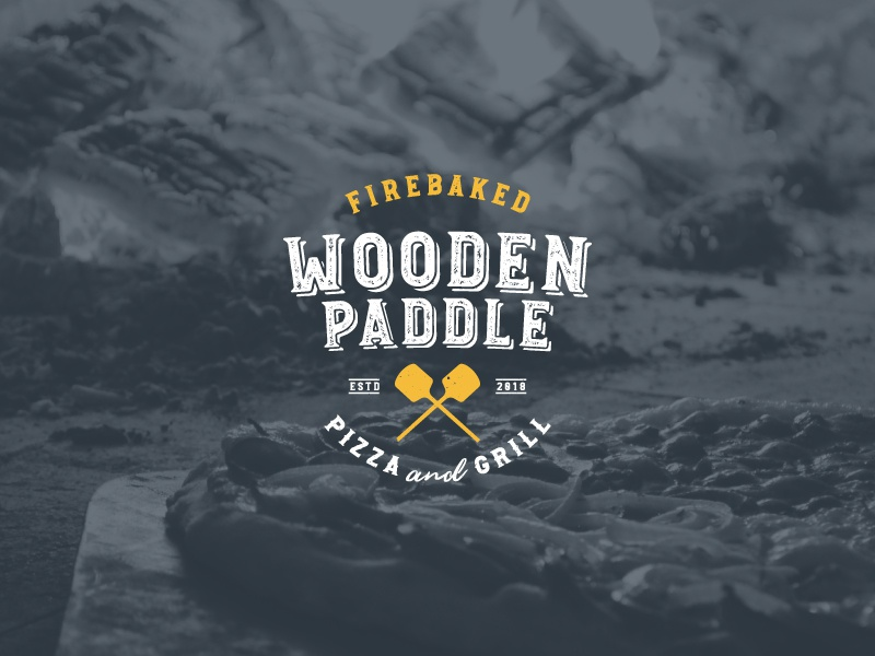 The Wooden Paddle — Logo Concept star wars may branding brand graphics logo design development creative