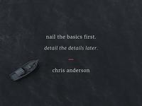 Nail the Basics