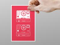 Polaroid Illustration Postcard