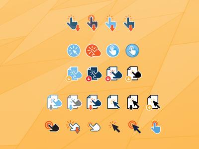 'Click' to Download Icons – F R E E B I E