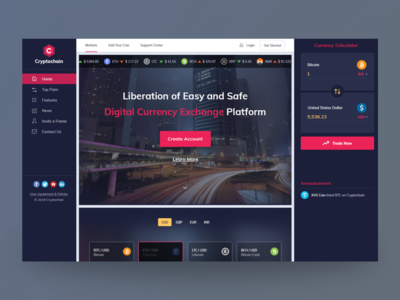 Crypto Currency - Homepage /Landing Page Concept