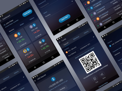 Crypto Currency - Mobile App Concept