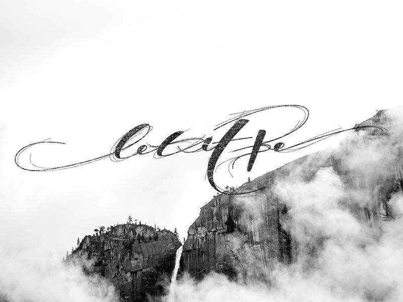 Let it Be cool design art vector mountains illustration lettering letter type