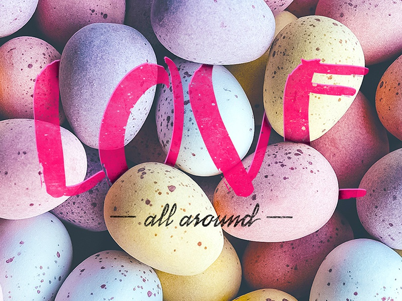 Love all around create love design texture color font handmade lettering letter type