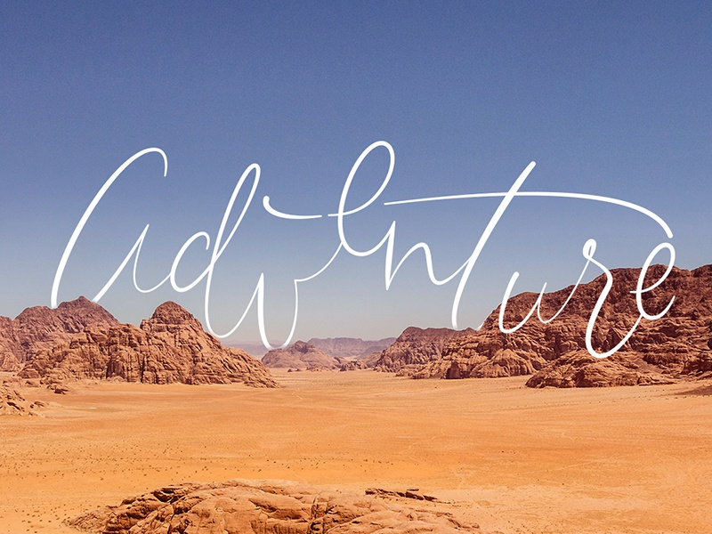 Adventure adventure create love design texture color font handmade lettering letter type