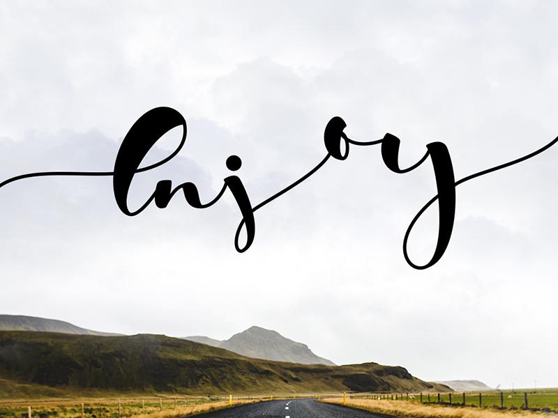 Enjoy caligraphy design illustration lettering letter type