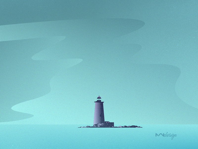 Lighthouse Illustration graphic nature challenge lighthouse illustration