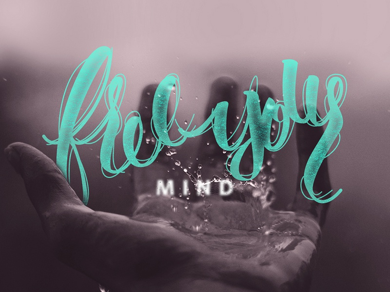 Free your mind ... caligraphy design illustration lettering letter type