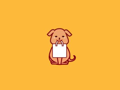 Dog ux ui visual design illustration