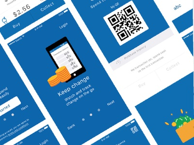 iOS app blockchain app mobile illustration design visual ui ux