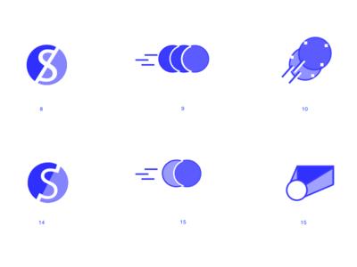 logo ideation blockchain illustration logo