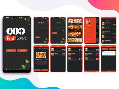 Food Loverz logo ui ux app design