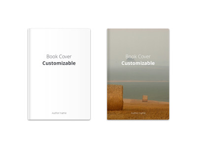 Freebie: Book Cover Customizable sketch freebie design book graphic cover clean simple minimal design