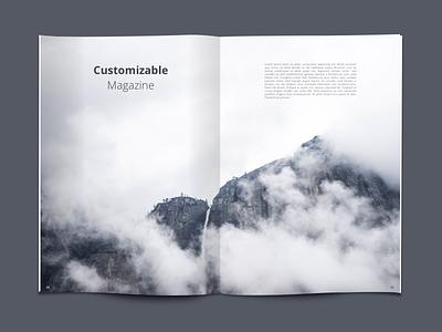 Freebie: Customizable Magazine editorial design design minimal simple clean graphic design magazine freebie sketch