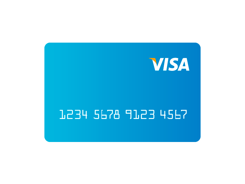 Visa clean vector ilustration visa